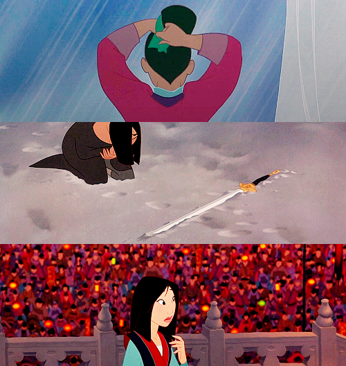 I've heard a great deal about you, Fa Mulan. You stole your father's armor, ran away from home, impersonated a soldier, deceived your commanding officer, dishonored the Chinese Army, destroyed my palace - and you have saved us all.