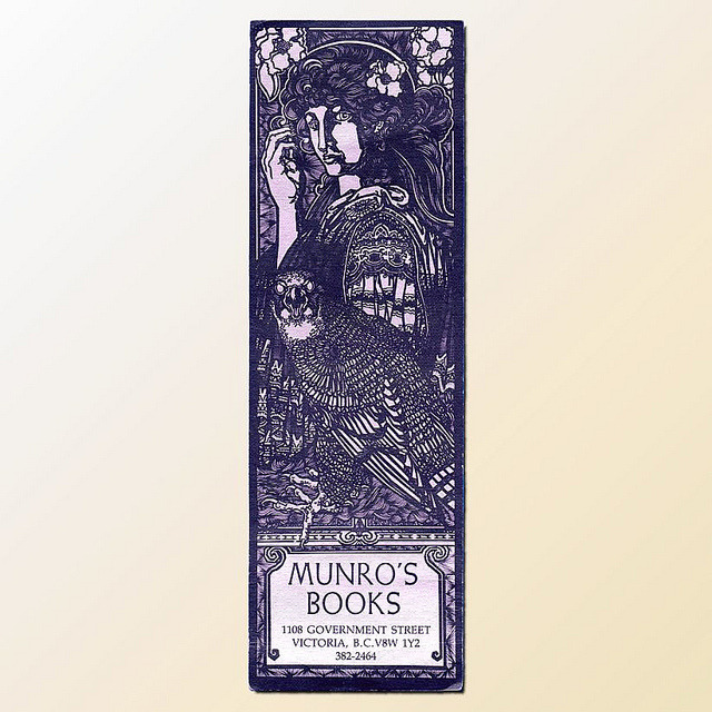 Martin Springett - advertising bookmark for Munro's Books by Mirage Bookmark on Flickr.
