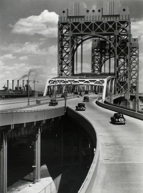 artprintsphotographsnypl:  Today, on July 11, 1936, the Triborough Bridge was officially opened.  Construction on the bridge was begun on October 25, 1929, also known as Black Friday – the beginning of the Great Depression.