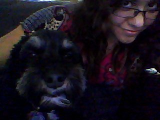 Chillin' with Tico the dog… My netbook's camera is terrible!