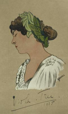 Caricature of Viola Tree. (1901-1915)
