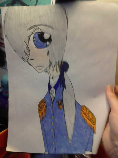 10knotes:  spiegelstruck: in fifth grade i drew anime george washington My lovely followers, please follow this blog immediately!