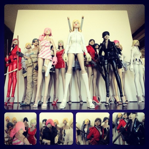 The Tomorrow Queens #queen #toy #threea #3a #3aa #vinyl #heels (Taken with Instagram)