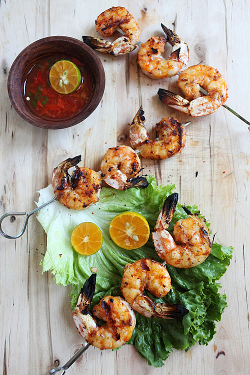 emilanton:  Lemongrass Grilled Shrimp, Recipe