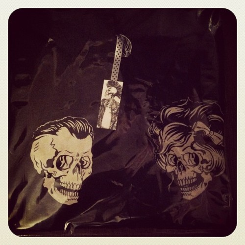 Starting to pack all the tees ready for Fridays website launch!!! :-) #skulls #love #skull #black #tee #tshirts #couple (Taken with Instagram)