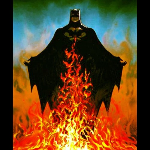 #Batman #DarkKnight #CapedCrusaders #DarkKnightRises #DC #Comics #fire #flame  (Taken with Instagram)