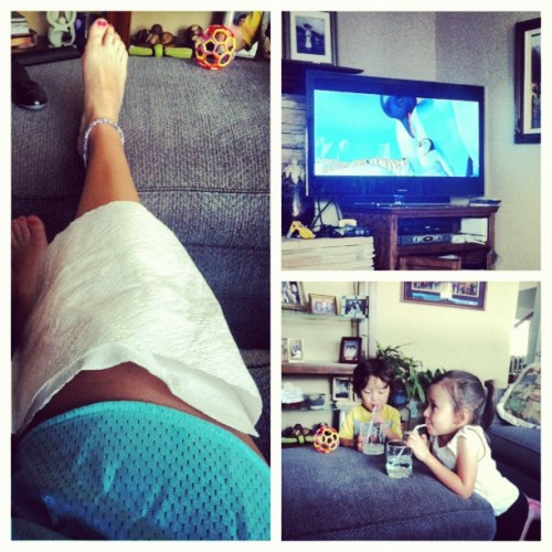 Babysitting while injured? Let's do this :) (Taken with Instagram)
