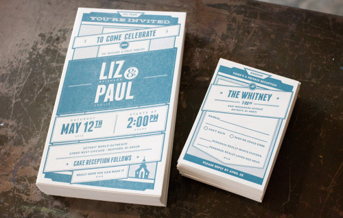 Gorgeous wedding invites for Liz & Paul by Andrew Smith!