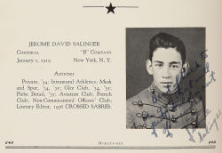 "Oh My!….So AMAZING….Check out J.D. SALINGER'S ""Yearbook Photo"" w/ hand written message to pal….1936…."