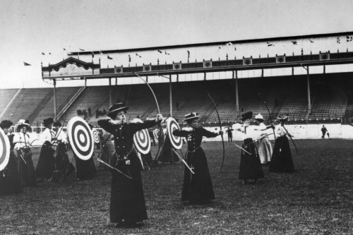collective-history:  Women's archery 1908 Olympics in London.