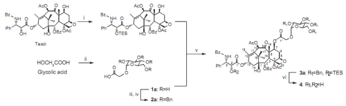 Figure 1 from 'Chemo-enzymatic Synthesis of Glycolyl-Ester-linked Taxol-monosaccharide Conjugate and Its Drug Delivery System Using Hepatitis B Virus Envelope L Bio-nanocapsules' Published in Biochemistry Insights