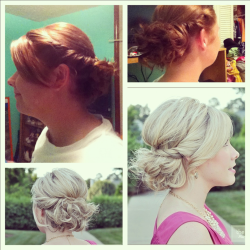 Used a picture from pinterest to find my hairstyle for the wedding.