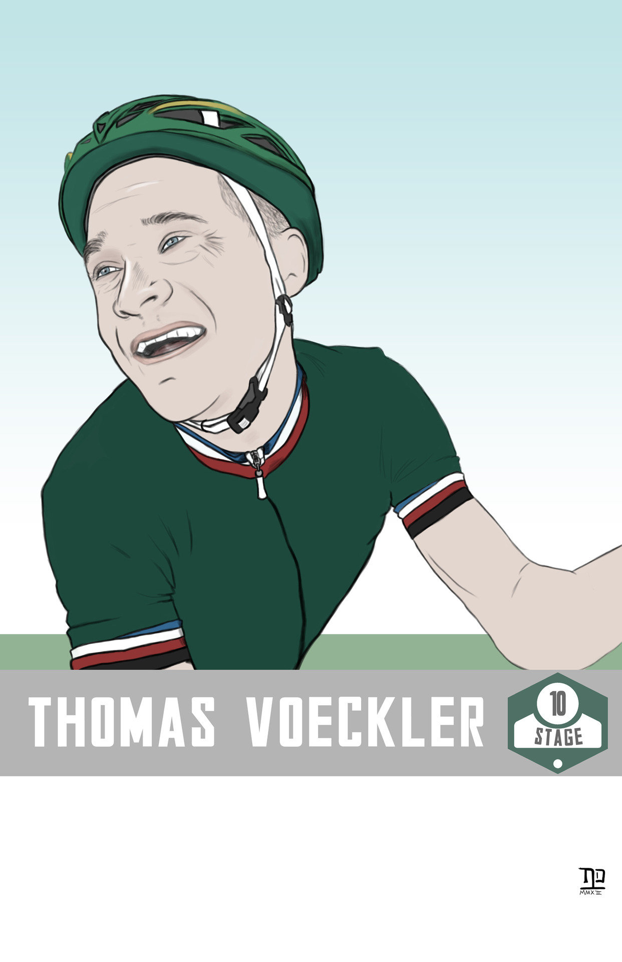 lastpolkadesign:  Tour de France: Stage 10 winner, Thomas Voeckler ©nathan dallesasse