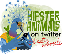 hipster animals on twitter