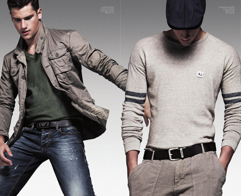 mensfashionworld:  Armani Jeans' S/S 2012 Catalogue