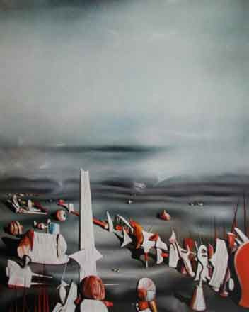 The Rapidity of Sleep by Yves Tanguy