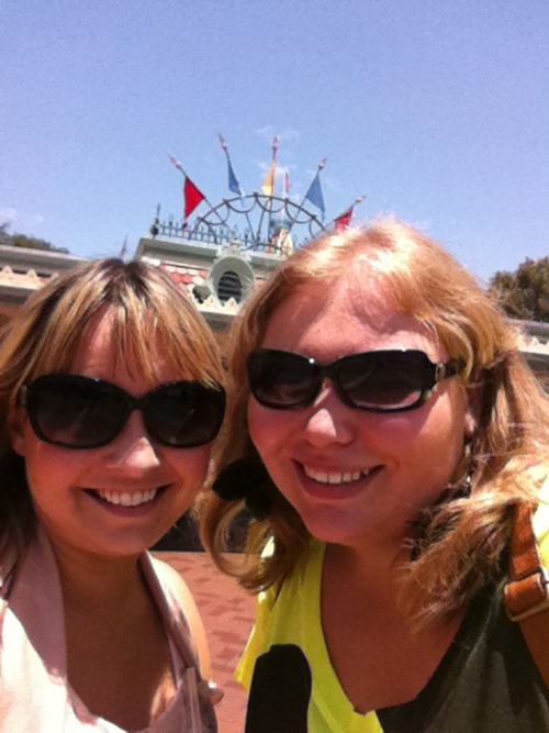 Myself and Reimaginethestars at disneyland :) <3