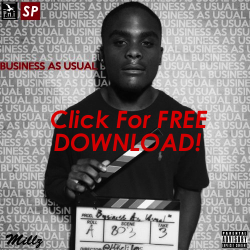 "Click here to download Millz' new mixtape ""Business As Usual"" for FREE!"
