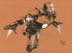 Iron Man sketch. July, 2008. Art by Ransom Getty.