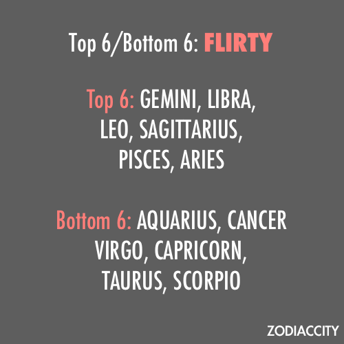 … I find it funny how Gemini is the first to be mentioned, and Scorpio the last. Because if anything personal experience says it should be the other way around. /kicked out