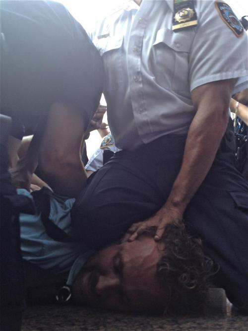yourmomisapastiche:  Paul was arrested earlier by the NYPD at Zuccotti Park for filming the events taking place there today.  Photo credit: Giles Clark