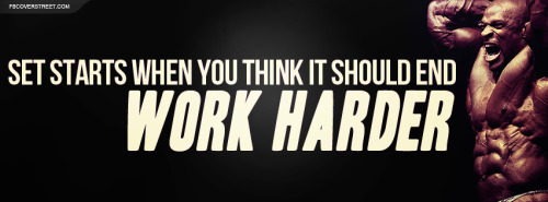Ronnie Coleman Work Harder Facebook Cover