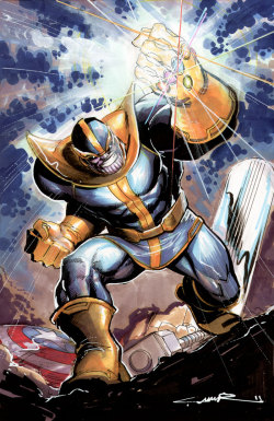 Thanos illustration by Yildray Cinar. June, 2011.