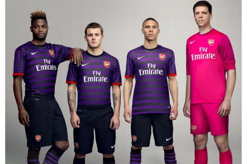 theworldsgame:  This is Arsenal's new away kit. No wonder van Persie wanted out.