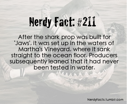 nerdyfacts:  (Source.)  probably my favorite horror movie That shit had me scared of the open water for YEARS as a kid