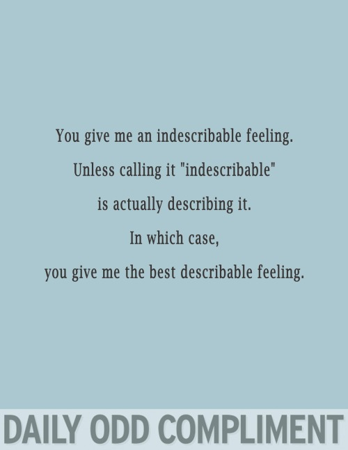"""Indescribable Feeling"""