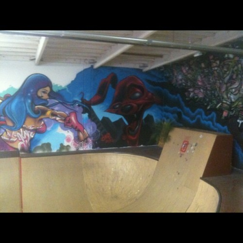 #sick #graffiti #art #skateboarding #unitb  (Taken with Instagram at Unit B Studio)