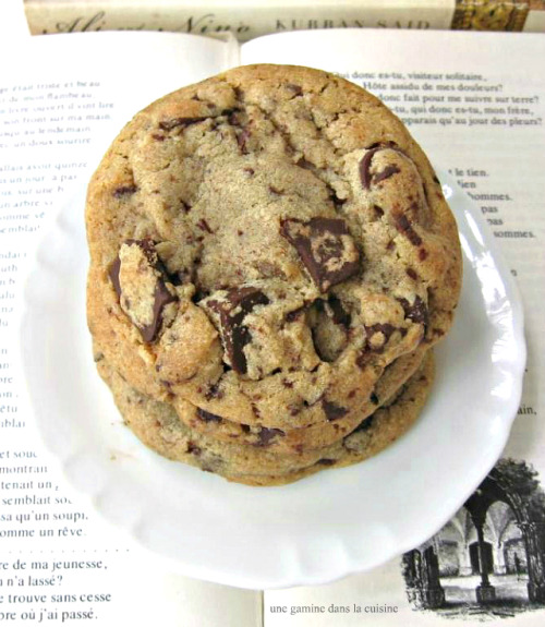 cinnamon brown butter chocolate chip cookies