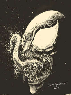 Venom sketch by Adam Guzowski. April, 2012.