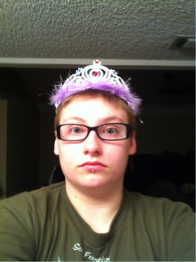 My niece gave me a princess tiara.   I feel so fabulous.