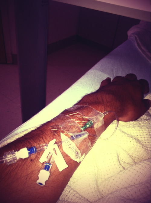 I fuckn hate being in the hospital.