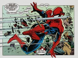 Panel from Spider-Man #13. August, 1991. Art by Todd McFarlane.