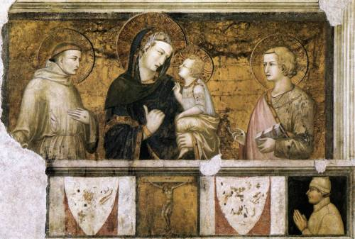 shortbreadsh:  Pietro Lorenzetti, Madonna and child with St. Francis of Assisi and St. John the Baptist