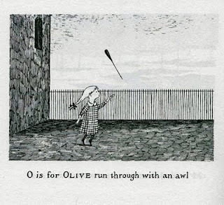 Edward Gorey, The Gashlycrumb Tinies. or When will there be an awl on The Awl come on.