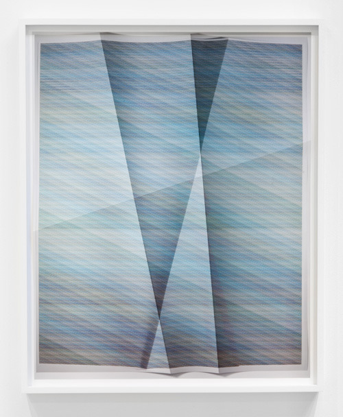 John Houck, Untitled, #17, 104,975 combinations of a 2x2 grid, 18 colors 26 x 32in. framed, Creased Archival Pigment Print, Unique, 2012