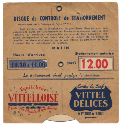 Disque de controle do stationnement (via Delicious Industries: From the reference box #126)