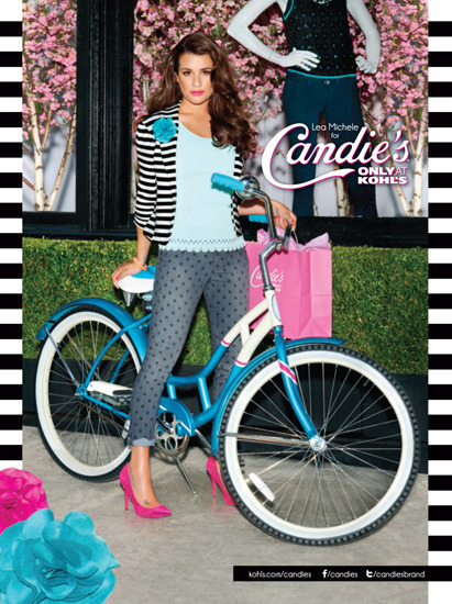 Lea Michele Sizzles!   Lea Michele is the new face for Candie's back to school campaign and looks gorgeous!! She's ditching her Glee character's preppy style for flouncy dresses, printed pants, and tons of heels.
