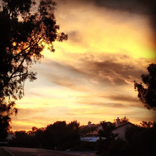 Beautiful #Sunset. Perfect ending to a #run #summer (Taken with Instagram)