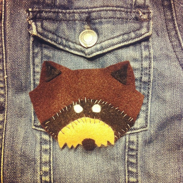 So I got bored and made the Khaki Scout raccoon patch #moonrisekingdom #khakiscout (Taken with Instagram)