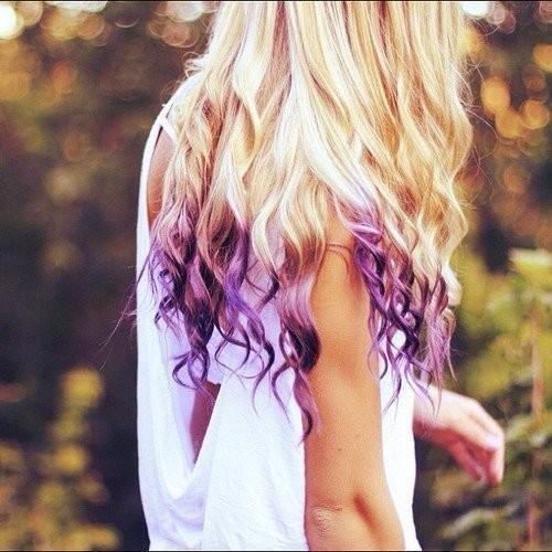 kissmeimartsy:  Purple Ombre hair
