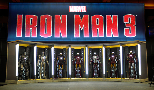 marvelentertainment:  Check out our official photo of the Iron Man 3 Hall of Armor, the centerpiece of the Marvel booth and stage at Comic-Con International: San Diego. This pic by Judy Stephens. Many more photos on Marvel.com. Stay tuned to marvel.com/sdcc2012 through July 15 for live video, photos, news and much more!