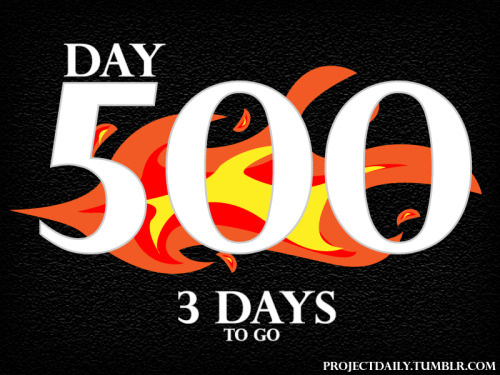 projectdaily:  Project Daily hits Day 500 in 3 days time. Keep your eyes peeled. What do you think Day 500's character will be?  Project Daily is my character design blog in which I have almost amassed 500 continuous days of character designs. Sunday will day 500, what kind of character do you think it will be?