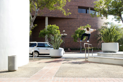 Ish Lipman ollie over rail