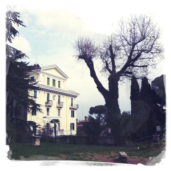 Roman park and villa, iPhone shot, 2012