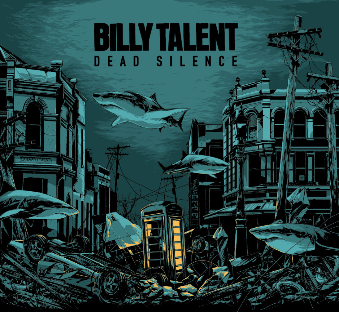 "billytalentband:  FRIENDS! How amazing is this artwork? Billy Talent's 4th record, ""Dead Silence"" will be out in September, starting on the 7th, so check your local listings for exact date. I can't wait for you to hear it!  #deadsilence  - Jessica"