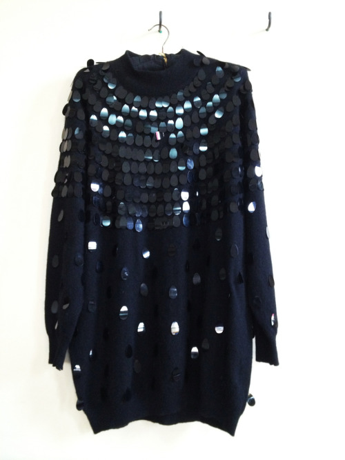 Sequin angora knit